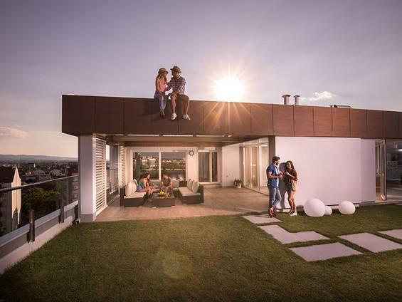 Luxuswohnung mieten, Penthouse, Foto: iStock/skynesher