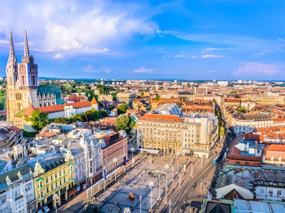 Immobilienkauf Kroatien, Blick auf die Innenstadt von Zagreb, Foto: dreamer4787 / fotolia.de