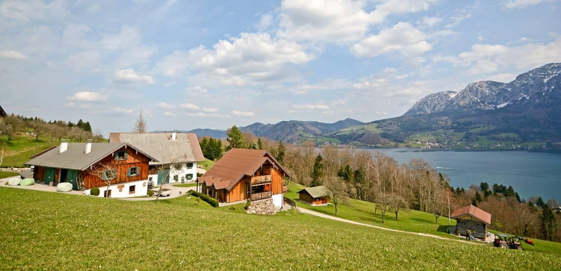 Bauernhof kaufen, Gutshof, Aussiedlerhof, Dreiseitenhof, Foto: iStock.com/ah_fotobox