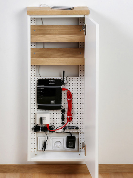 kabel verstecken weg mit dem elektrosalat. Black Bedroom Furniture Sets. Home Design Ideas